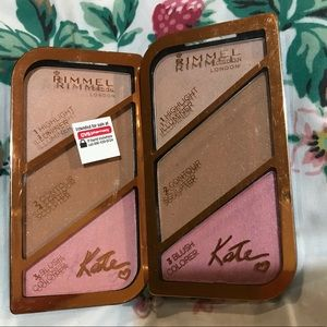 2 New rimmel London highlights , contour &  blush